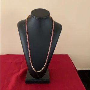 Women's pink chain